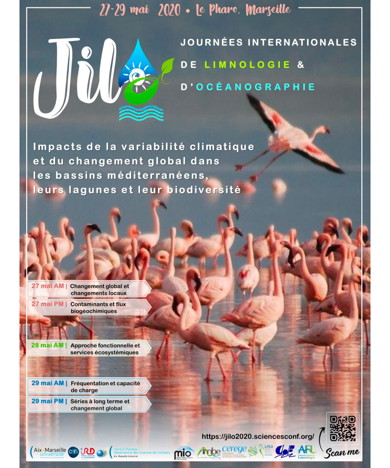 JILO 2020 : Journées Internationales de Limnologie et d'Océanographie, 27-29 mai 2020 à Marseille