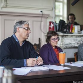 Frédéric Olivier, Pr Gesche Winkler, Emmanuelle Hascoet . Photo Erwan Amice