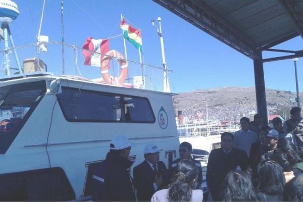 Départ du bateau PELT © IRD Bolivie